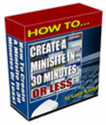 Pay for How to Create a Minisite in 30 Minutes or Less (RR)
