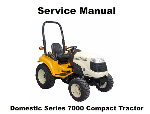 cub cadet domestic series 7000 compact tractor service manual dow rh tradebit com Cub Cadet Riding Mower Cub Cadet Electrical Diagram