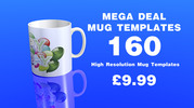 Thumbnail 160 High resolution mug templates 300dpi