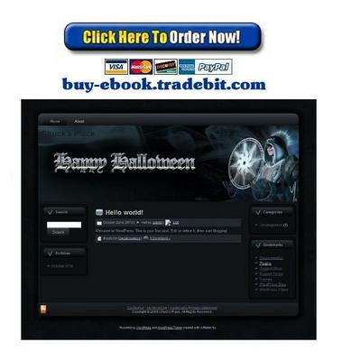 Pay for Halloween Sorceress Template Package