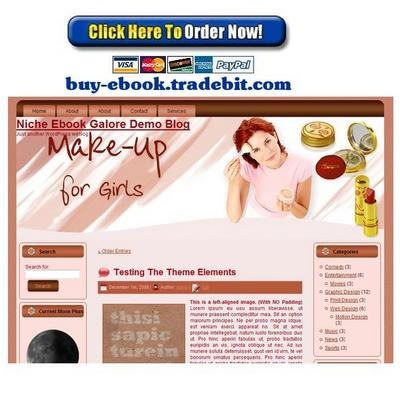 Pay for Professional Makeup for Girls Template Package