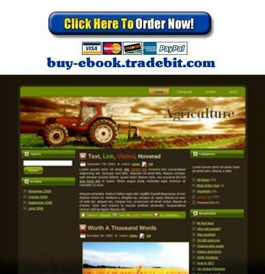 Pay for Agriculture Tractor Template Package