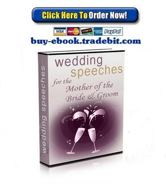 Pay for Wedding Speeches for the Mother of the Bride and Groom