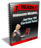 Thumbnail 7 Deadly Webmaster Mistakes Includes Resell Rights