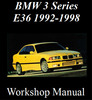 Thumbnail BMW 3 series E36 1992-1998 WORKSHOP MANUAL