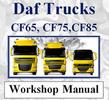 Thumbnail DAF CF SERIES TRUCK CF65 CF75 CF85 FULL WORKSHOP MANUAL