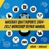 Thumbnail MASERATI QUATTOPORTE 2004-2012 FULL WORKSHOP REPAIR MANUAL