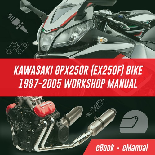 Pay for KAWASAKI GPX250R EX250F BIKE 1987-2005 WORKSHOP MANUAL