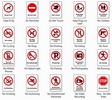 Thumbnail 20 Warning Signs - Printable Templates