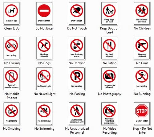 photo relating to Printable Signs referred to as 20 Caution Symptoms - Printable Templates