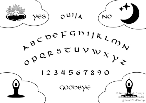 photo about Printable Ouija Boards referred to as Ouija Board Pyrography Stencil
