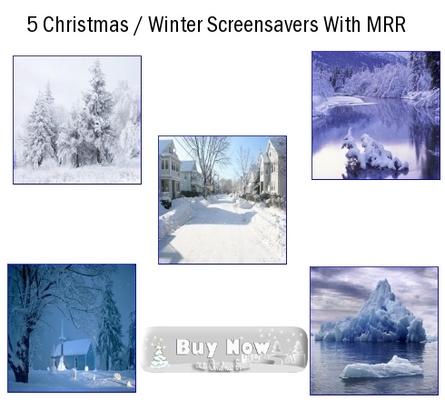 Pay for 5 Christmas Screensavers 2011