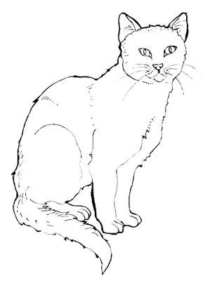 Cats printable pyrography stencils download educational for Pyrography templates free