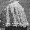 Thumbnail 1908 Antique Ladies Beribboned Cape Crochet Pattern