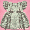 Thumbnail Princess Baby Dress in 4 Sizes Crochet Pattern