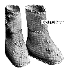 Thumbnail Titanic Era Afghan Stitch Baby Shoes Crochet Pattern