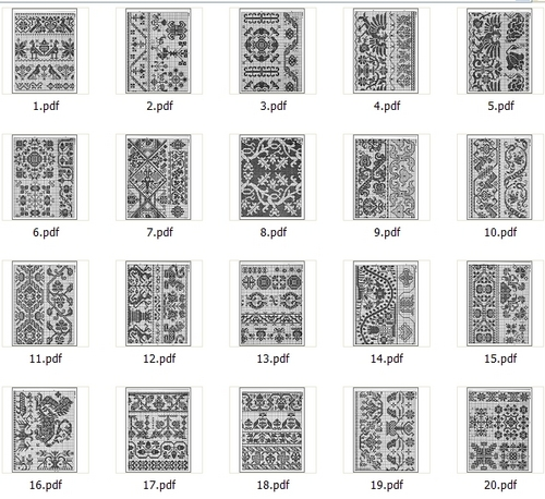 Pay for 20 Antique Filet Crochet Charts eBook