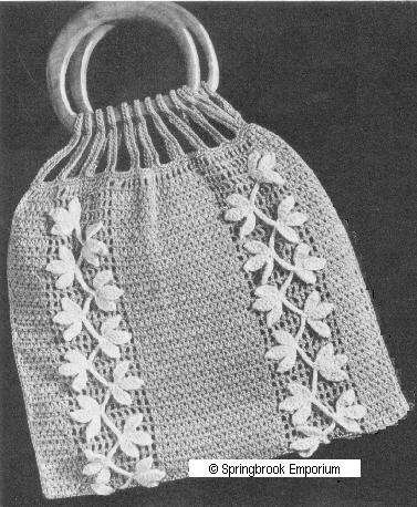 Crochet Bag Bamboo Handles Pattern : CROCHET BAG BAMBOO HANDLES PATTERN FREE CROCHET PATTERNS