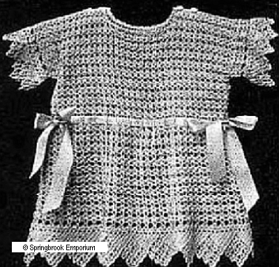 Pay for Antique Baby Frock - Dress Antique Crochet Pattern
