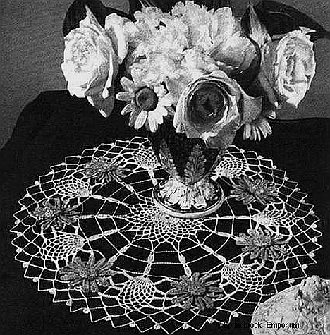 Pay for Blue Aster Doily Vintage Crochet Pattern