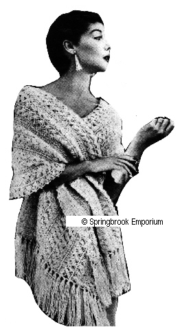Crochet Shawl Patterns - Cross Stitch, Needlepoint, Rubber Stamps