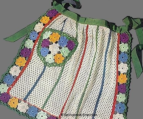 Pay for Flower Trimmed Dish Cloth Apron Vintage Crochet Pattern