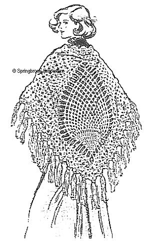 Grand Lacy Pineapple Shawl Vintage Crochet Pattern Download Manua