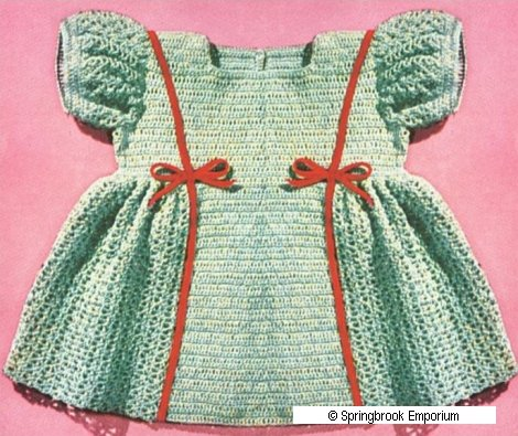 Pay for Princess Baby Dress in 4 Sizes Crochet Pattern