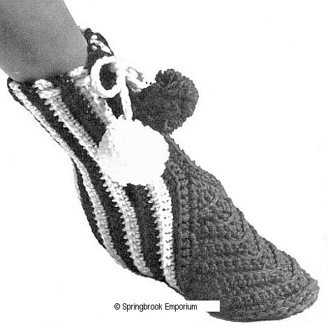 Pay for Stretchy Ankle Hugging Slippers for Her Crochet Pattern