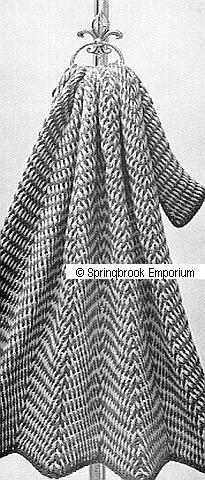 Tunisian N Hook Herringbone Afghan Crochet Pattern ...