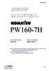 Thumbnail Service Manual Komatsu Wheel Excavator PW160-7H