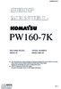 Thumbnail Service Manual Komatsu Wheel Excavator PW160-7K