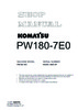 Thumbnail Service Manual Komatsu Wheel Excavator PW180-7E0