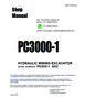 Thumbnail SERVICE MANUAL HYDRAULIC EXCAVATOR PC3000-1