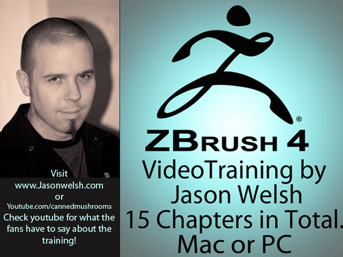 Pay for Zbrush 4 Video Training Box Set by Jason Welsh
