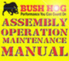 Thumbnail BUSH HOG RDTH 60 72 OPERATION MAINTENANCE OWNERS MANUAL