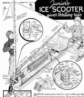 Build A Wind Powered Ice Yacht Scooter Guide Plans Vintage