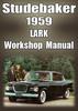 Thumbnail STUDEBAKER Lark Deluxe, Regal 6 cyl & V8 1959 Shop Manual