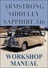 Thumbnail ARMSTRONG SIDDELEY Sapphire 346 1953-1958 Workshop Manual