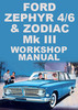 Thumbnail Ford Zephyr and Zodiac Mark 3 1962-1966 Shop Manual