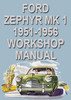Thumbnail Ford Zephyr and Zodiac Mark 1 1951-1956 Shop Manual