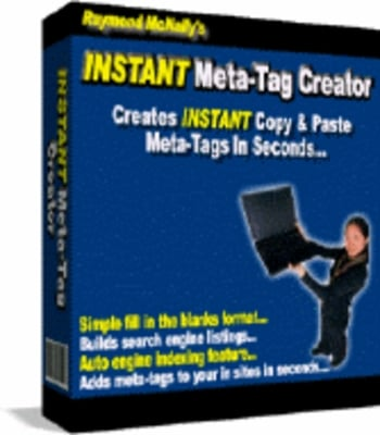 Pay for Instant Meta-Tag Creator