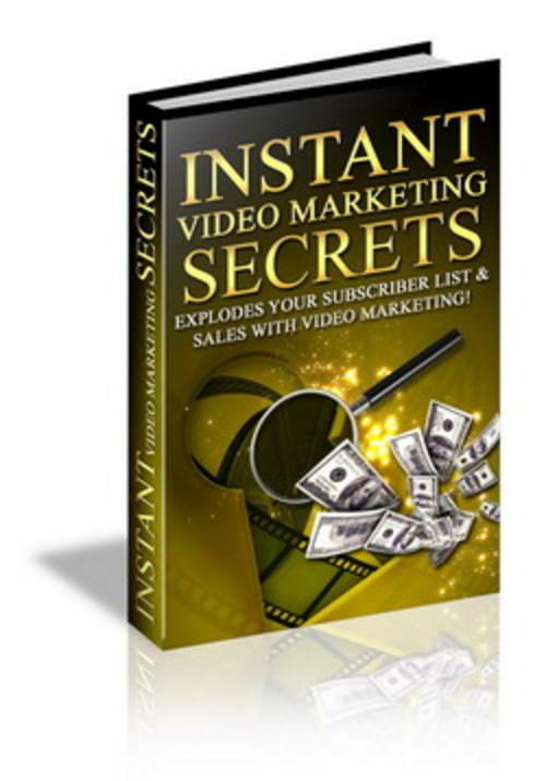 Pay for Instant Video Marketing secrets, online cash flow like never
