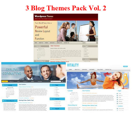 Pay for Buy 3 Blogs Themes Pack Vol. 2 (PLR)