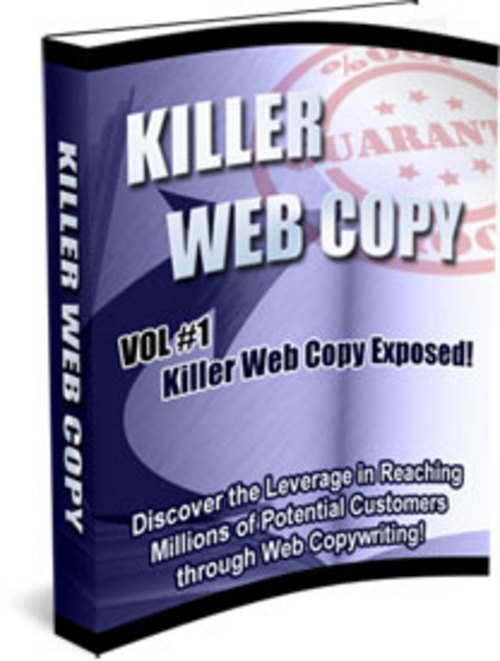 Pay for Killer Web Copy 3 Volume Set With Master Resell Rights.zip