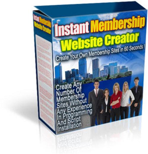 Instant Membership Site Creator Download Php