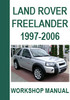 Thumbnail Land Rover Freelander 1997-2006 Workshop Repair Manual