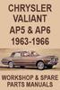 Thumbnail Chrysler Valiant AP5 & AP6 Workshop & Spare Parts Manual
