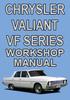Thumbnail Chrysler Valiant VF Series workshop manual