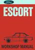 Thumbnail Ford Escort Mk II 1975 onwards Workshop Repair Manual